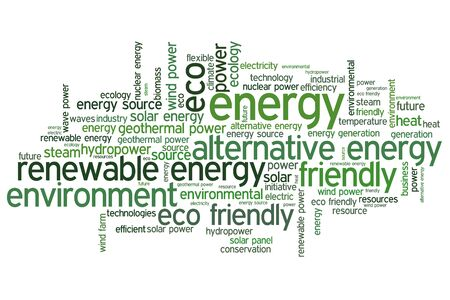 alternative energy source: Alternative energy word cloud illustration. Word collage concept.