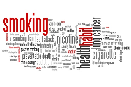 smoking issues: Smoking issues and concepts word cloud illustration. Word collage concept.