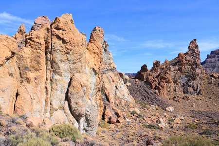 natural landmark: Teide National Park - volcanic landscape in Tenerife. Natural landmark.