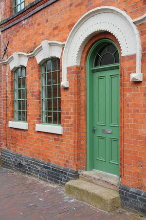 midlands: Birmingham. Old door in Jewellery Quarter. West Midlands, England. Stock Photo