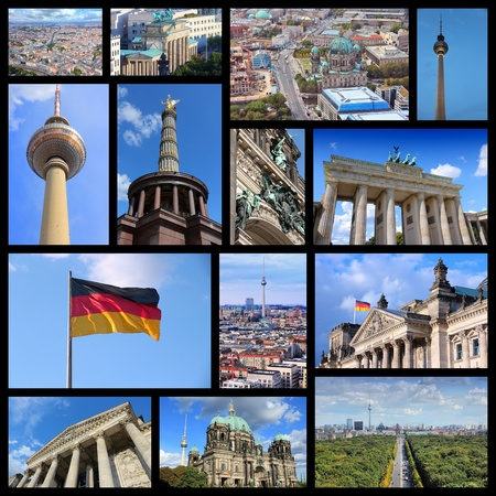 travel collage: Berlin - Germany capital city travel photos collage.