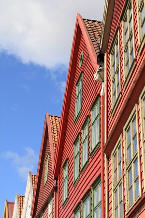 unesco: Bergen, Hordaland county, Norway. Bryggen quarter, UNESCO World Heritage Site.