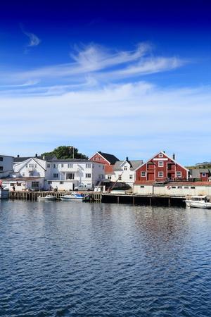 archipelago: Lofoten archipelago in Norway. Henningsvaer fishing village in Nordland county.