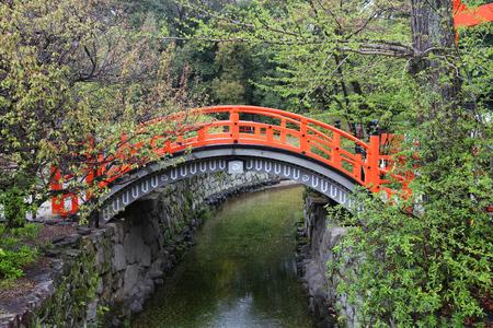 Shimogamo shinto shrine bridge in Kyoto (Sakyo Ward), Japan.