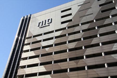 OSAKA, JAPAN - APRIL 27, 2012: Mio Tennoji shopping center in Osaka, Japan. The 12-floor mall has 240 shops.
