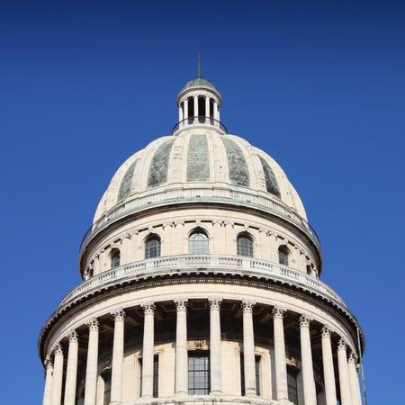 capitolio: Capitolio building - landmark in Havana, Cuba. Capital city.