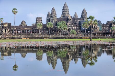 angkor wat: Angkor Wat -  Khmer temple in Cambodia. UNESCO World Heritage Site. Editorial