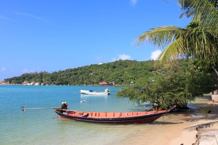 tao: Thailand, Southeast Asia - beach at Koh Tao island in Surat Thani province.