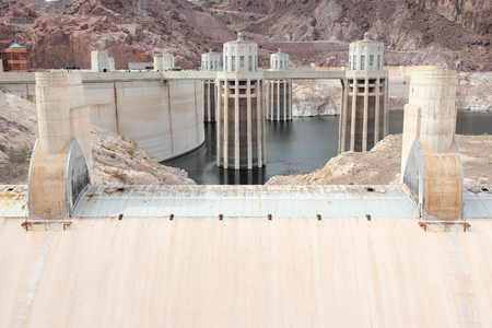 hydroelectric power station: Hoover Dam in United States. Hydroelectric power station on the border of Arizona and Nevada.