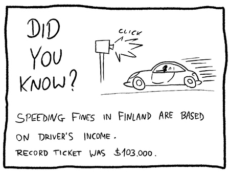 Fun fact trivia - useful doodle cartoon illustration usable as a webcomic or for funny section of a newspaper.