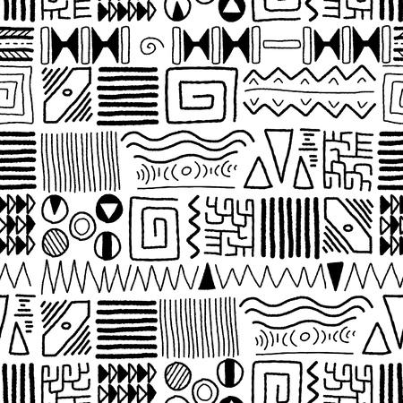 aborigen: Modelo étnico africano - arte indígena. Diseño de estilo africano. Vectores