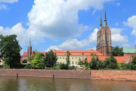 dolnoslaskie: Wroclaw, Poland - city architecture. Ostrow Tumski - oldest part of the city.