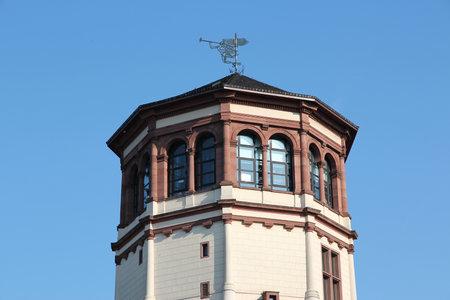 ruhr: Dusseldorf - city in North Rhine-Westphalia region of Germany. Part of Ruhr region. Old castle tower.