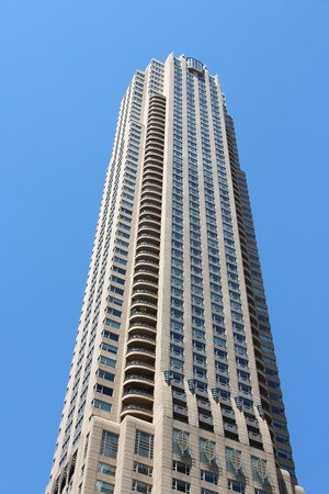 m hotel: CHICAGO, USA - JUNE 28, 2013: Park Tower in Chicago. It is 844 ft (257 m) tall and was designed by Lucien Lagrange Architects. Park Hyatt Hotel occupies most floors. Editorial