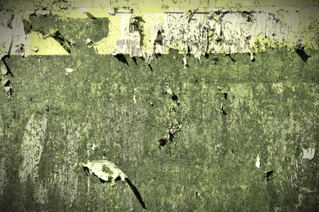 torn metal: Metal grunge background. Aged steel tin abstract pattern with torn paper posters.