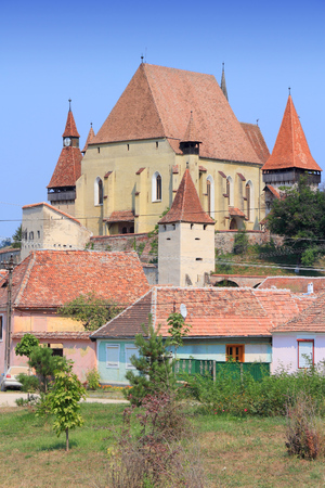 biertan: Biertan in Transylvania region of Romania. Fortified church of Saxon Transylvanians - UNESCO World Heritage Site. Editorial