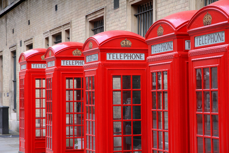 phonebooth: London, United Kingdom - red telephone boxes of Broad Court, Covent Garden.