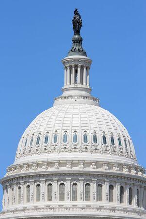 capital building: Washington DC, United States landmark. National Capitol building with US flag.
