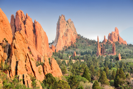 gods: Garden of the Gods in Colorado Springs. National Natural Landmark. Stock Photo