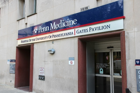 campus tour: PHILADELPHIA, USA - JUNE 11, 2013: University of Pennsylvania hospital (Penn Medicine) in Philadelphia. UPenn is on of Ivy League universities and was attended by president William Henry Harrison.