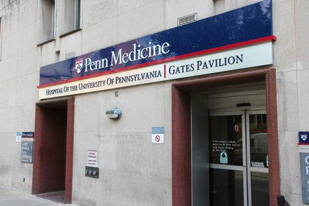 william penn: PHILADELPHIA, USA - JUNE 11, 2013: University of Pennsylvania hospital (Penn Medicine) in Philadelphia. UPenn is on of Ivy League universities and was attended by president William Henry Harrison.
