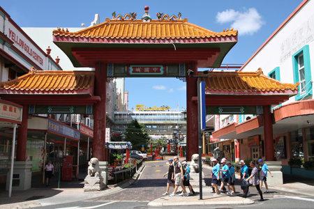 estimated: BRISBANE, AUSTRALIA - MARCH 22, 2008: People visit Chinatown in Brisbane, Australia. As of 2014 estimated 447,400 people in Australia were born in China.