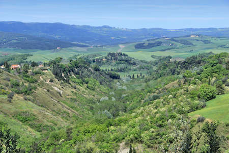 volterra: Tuscany countryside landscape in Volterra, Italy.