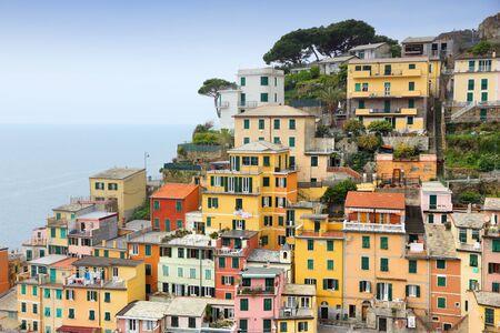 cinque: Cinque Terre, Italy.   Stock Photo
