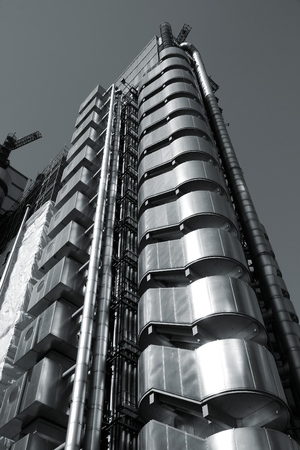 lloyds: LONDON, UK - MAY 13, 2012: Lloyds building in London. It was built in 1986 and is one of most recognizable London buildings. It is listed as grade I monument.