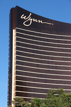 las vegas strip: LAS VEGAS, USA - APRIL 14, 2014: Wynn resort in Las Vegas. It is one of 20 largest hotels in the world with 4,750 rooms (together with adjacent Encore).