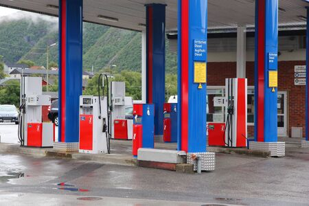 operates: OSEN, NORWAY - JULY 22, 2015: YX gas station in Osen, Norway. YX Energi operates 300 petrol stations in Norway.