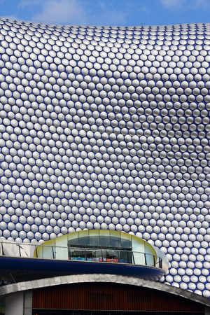 birmingham: BIRMINGHAM, UK - APRIL 19, 2013: Selfridges department store in Birmingham. The modern building is part of Bullring Shopping Centre and was completed in 2003. Editorial