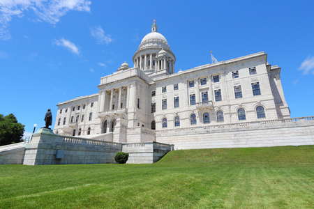 island: Providence, Rhode Island. City in New England region of the United States. State capitol building.