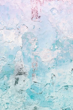 sprayed: Grunge blue concrete wall background - urban decay texture with peeling paint.
