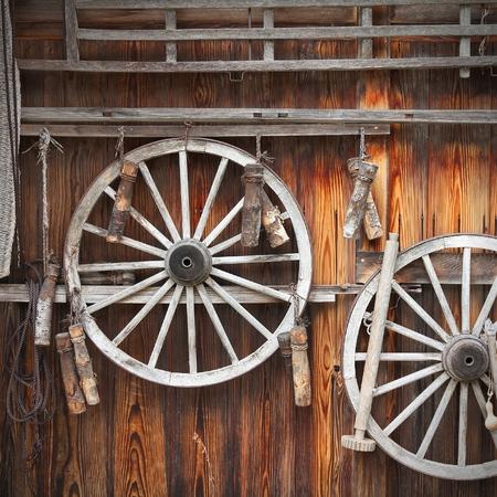 shirakawa: Japan - rural tool decoration in Shirakawa Stock Photo