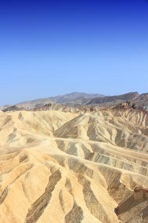 death valley: Zabriskie Point in Death Valley National Park. California desert landscape.