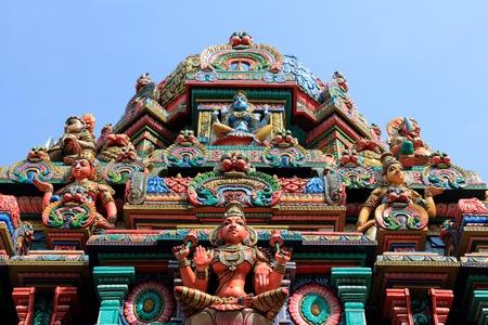 バンコク, タイ, 東南アジア - スリ マリアマンのヒンドゥー教寺院。 写真素材