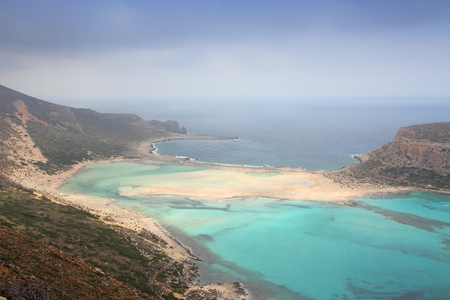 Balos Lagoon. Coast of Crete island in Greece.