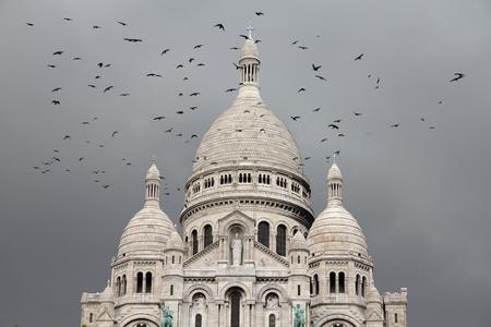 sacre: Paris, France - Basilica Sacre Coeur in Montmartre.