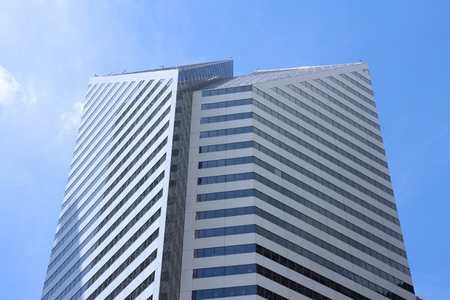 CHICAGO, USA - JUNE 27, 2013: Crain Communications Building in Chicago. It is 582 ft (177 m) tall and its tenants include Wells Fargo Insurance Services.