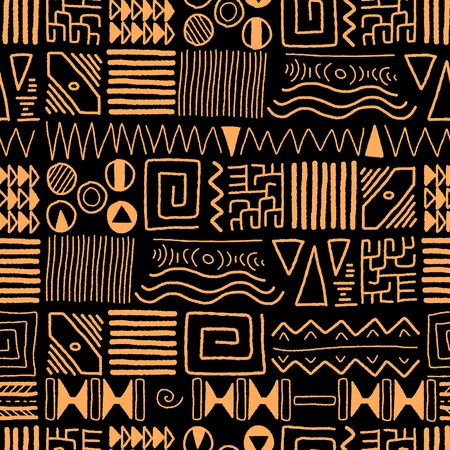 tradition art: African ethnic pattern - tribal art background. Africa style design.