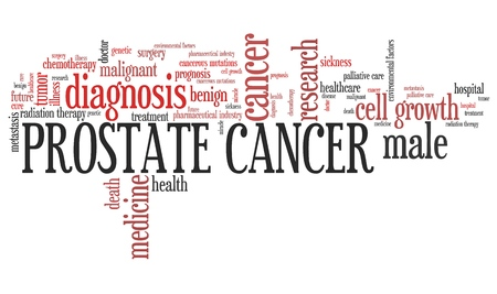 prostate: Prostate cancer word collage concept. Serious disease treatment. Stock Photo