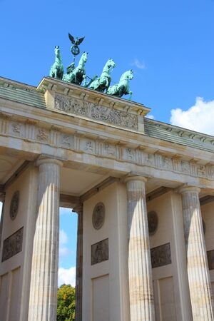 brandenburg gate: Berlin, Germany. Capital city landmark - Brandenburg Gate.