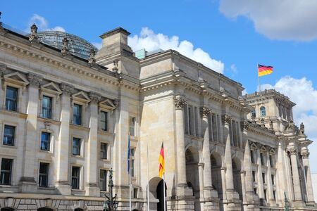 governmental: Reichstag building, German parliament house. Berlin, Germany. Stock Photo