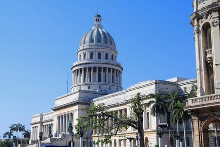 nacional: Havana, Cuba - city architecture. National Capitol (Capitolio Nacional) governmental building.