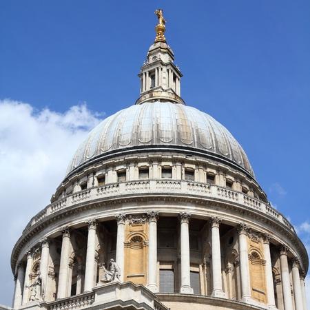 saint pauls cathedral: London, United Kingdom - Saint Pauls Cathedral church. Stock Photo