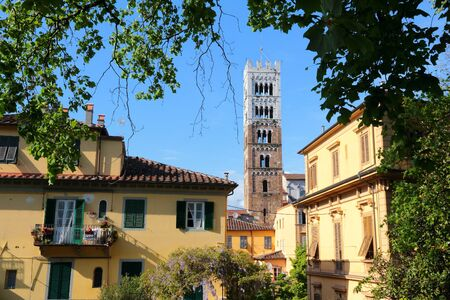 lucca: Lucca - Medieval old town in Tuscany. Italy destination.