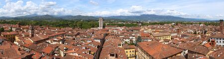 the medieval: Lucca, Italy - medieval town of Tuscany. Panoramic view.