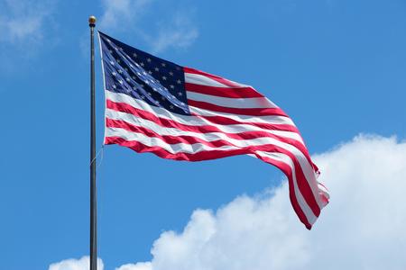 spangled: Flag of the United States, star spangled banner. Stock Photo