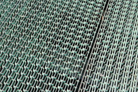 metal grate: Metal grate background. Stainless steel walkway abstract view.